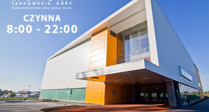 17.10.2020 - Hala Sportowa, Ścianka Wspinaczkowa, Korty Squash CZYNNE!